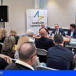 José Manuel Baltar se reúne con los vecinos en la sede del Comité Local de Coalición Canaria de Arona