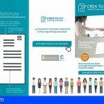 Una aplicación permitirá preparar un su curriculum validado oficialmente por el Servicio Canario de Empleo
