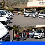 La Fundación CajaCanarias entrega vehículos adaptados a nueve entidades sociales