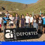 Arona pone en funcionamiento el parque street workout con calistenia en el área El Almendro de Valle San Lorenzo