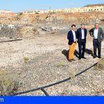 Gobierno y Cabildo visitan las obras de los enlaces de la TF-1 y centro de salud de Las Chafiras