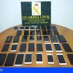 Tenerife | La Guardia Civil recupera 38 teléfonos móviles sustraídos durante los Carnavales