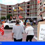 Los trabajadores del Hotel Annápurná en Las Galletas protestan por falta de pago de sus salarios