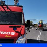 Fallece un motorista tras colisionar con un muro en Guía de Isora