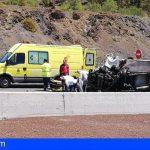 Un fallecido y un herido en una colisión frontal de dos vehículos en la TF-1 Guía de Isora