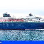Tenerife recibe de nuevo al crucero 'Nomad Cruise' con  220 trabajadores remotos a bordo