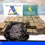 Detenido en el Puerto de Santa Cruz con más de 73 kg de hachís en su vehículo