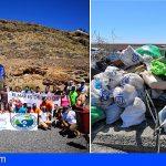 Retiran dos toneladas de residuos en la costa de Añaza