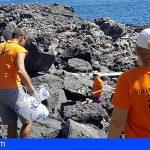 Retiran 350 kilos de residuos de la costa de Fasnia