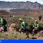 La Fred. Olsen Tenerife Bluetrail 2019 entrenará dos recorridos en el Teide el 13 de abril