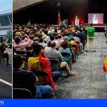VOX Tenerife reunió a más de 1.500 personas, protesta deja un policía herido y un detenido