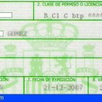 Detenido en Gran Canaria por falsificar autorizaciones temporales para conducir