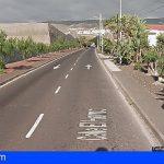 Adeje | Un Motorista herido grave tras sufrir una caída en la calle El Horno