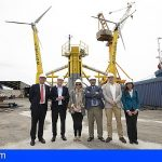 Canarias presenta la primera plataforma flotante eólica de España