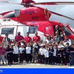 Canarias | Seguridad y Emergencias acerca la labor de los helicópteros del GES a los escolares canarios