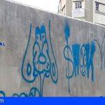 La Policía Nacional identifica a dos grafiteros en Santa Cruz (zona del Barranco de Santos)