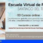 Más de 120 alumnos de Santiago del Teide se forman virtualmente