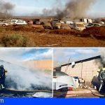 Arona | Arde un almacén con ropa y enseres en la zona del Camping Nauta