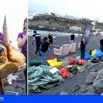 Gran limpieza de plástico y una suelta de tortugas de Loro Parque por el Día Mundial de los Océanos