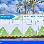Tenerife retira más de 13.000 kilos de residuos en los minipuntos limpios