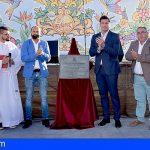 Santiago del Teide   El Alcalde reinaugura la plaza de la localidad de El Retamar