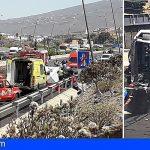 TF-1 Adeje | Una fallecida y dos heridos graves tras el vuelco de un camión