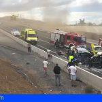 Una colisión frontal en la TF-1 Arico deja una mujer fallecida y dos heridos