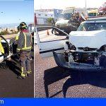 5 heridos en una colisión múltiple en La Laguna