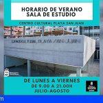 El Centro Cultural de Playa San Juan abrirá de lunes a viernes de 9 a 21h