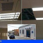 Arona reducirá en un 40% el consumo de iluminación de la Jefatura de la Policía Local