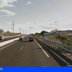 Tres personas afectadas tras la salida de vía de un vehículo en la TF-1 San Miguel