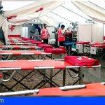 Cruz Roja colabora con la cobertura socio-sanitaria de la Peregrinación hacia Candelaria