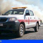Operativo de Cruz Roja en el incendio en Gran Canaria