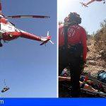 Santiago del Teide | Rescatado un senderista tras sufrir una caída en Tamaimo