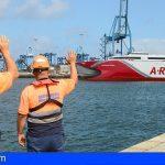 'Volcán de Tagoro', el fast ferry más avanzado del mundo, arriba a Canarias