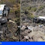 Conductor de 54 años en estado grave al precipitarse con su camión en San Miguel
