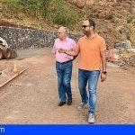 La Gomera | Curbelo comprueba el avance de las obras del acceso a La Laja