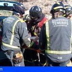 Una mujer de 72 años grave y otro herido en una colisión frontal en la TF-1 Chimiche