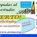 Arona destina casi 500.000 euros en ayudas para el estudio