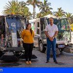 La Gomera incorpora una segunda barredora con motor eléctrico en San Sebastián