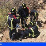 Rescatan a un cazador tras una caída en Arico