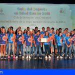 Arona deportes reconoce a los mejores clubes y deportistas en edad escolar del municipio