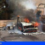 2 vehículos afectados en el incendio de un camión frigorífico en Cabo Blanco