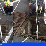 Rescatan a un trabajador de limpieza en Icod, tras caer a un pozo