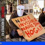 Cáritas de Tenerife reivindica el Derecho a la Vivienda con un «entierro» simbólico