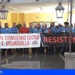Los trabajadores de la central térmica de Granadilla afrontan su 5to. día de encierro