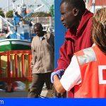 Una patera con 33 personas a bordó desembarcó en Los Cristianos