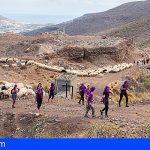 Un centenar de mujeres de Gran Canarias reivindican la trashumancia femenina