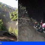 3 senderistas alemanes rescatados en La Palma, uno se precipitó por un barranco