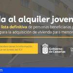 1.067 jóvenes canarios recibirán la ayuda para alquiler de vivienda